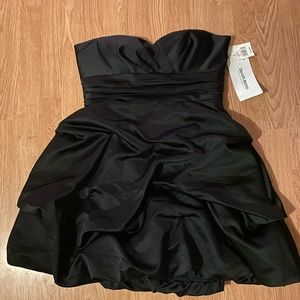David's Bridal Strapless Satin Short Dress